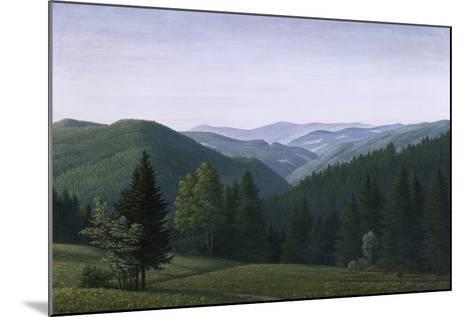 Vast Forest Landscape, 1937-Georg Schrimpf-Mounted Giclee Print