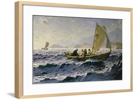 With the Wind-Hans Dahl-Framed Art Print