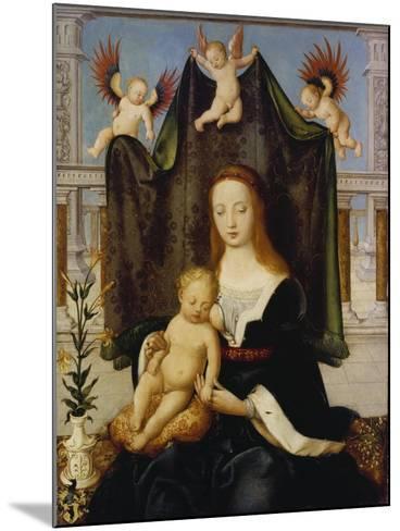 Madonna with Child, So-Called Boehlersche Madonna-Hans Holbein the Elder-Mounted Giclee Print