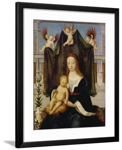 Madonna with Child, So-Called Boehlersche Madonna-Hans Holbein the Elder-Framed Art Print