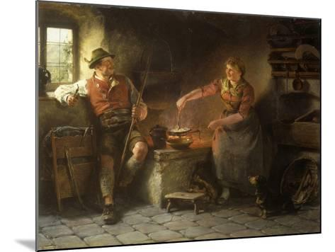 In the Kitchen, 1901-Hugo Kauffmann-Mounted Giclee Print