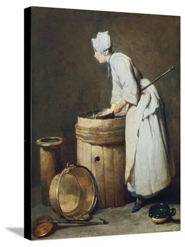 The Scullery Maid, 1738-Jean-Baptiste Simeon Chardin-Stretched Canvas Print