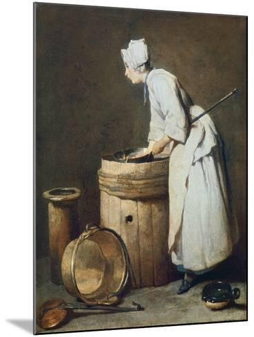 The Scullery Maid, 1738-Jean-Baptiste Simeon Chardin-Mounted Giclee Print
