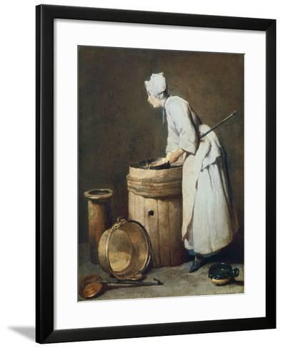 The Scullery Maid, 1738-Jean-Baptiste Simeon Chardin-Framed Art Print