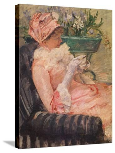 The Cup of Tea, Ca, 1880-81-Mary Cassatt-Stretched Canvas Print