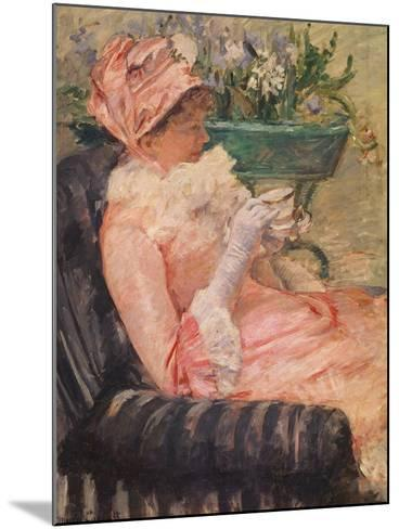The Cup of Tea, Ca, 1880-81-Mary Cassatt-Mounted Giclee Print
