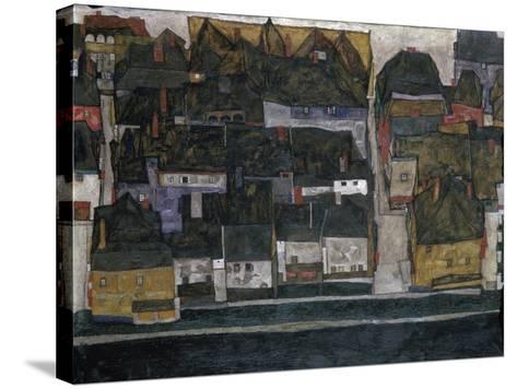 Small Town IV, (Ceský Krumlov on the Vltava River), 1914-Egon Schiele-Stretched Canvas Print