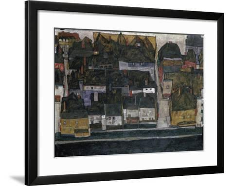 Small Town IV, (Ceský Krumlov on the Vltava River), 1914-Egon Schiele-Framed Art Print