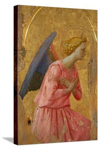 Angel of the Annunciation (Fragment)-Fra Angelico-Stretched Canvas Print