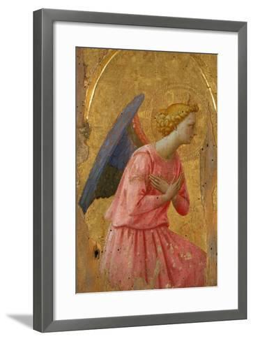 Angel of the Annunciation (Fragment)-Fra Angelico-Framed Art Print