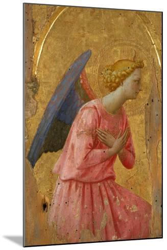 Angel of the Annunciation (Fragment)-Fra Angelico-Mounted Giclee Print