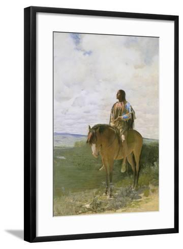 Sioux-Indian on Horseback, 1882-George de Forest-Brush-Framed Art Print