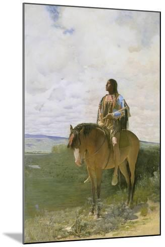 Sioux-Indian on Horseback, 1882-George de Forest-Brush-Mounted Giclee Print