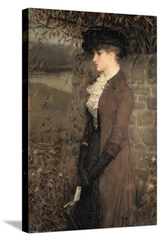 Falling Leaves-George Henry Boughton-Stretched Canvas Print