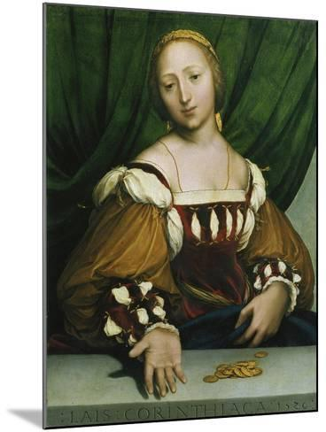 Lais of Corinth (Lais Corinthiaca), 1526-Hans Holbein the Younger-Mounted Giclee Print