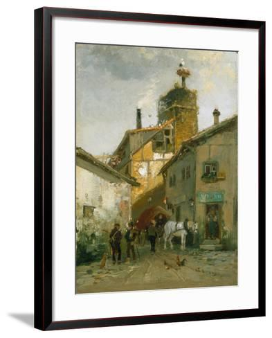 Idyllic Village-Hugo Mühlig-Framed Art Print