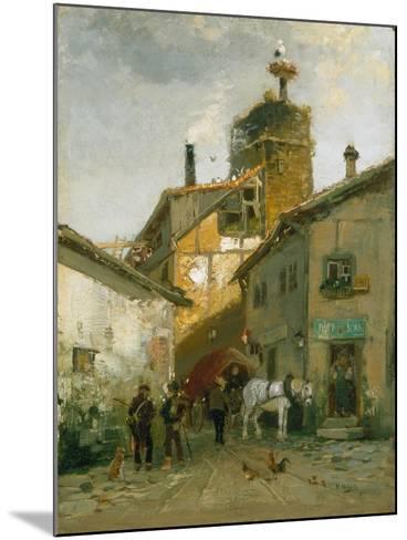 Idyllic Village-Hugo Mühlig-Mounted Giclee Print