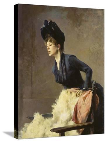 Portrait of a Young Lady, 1889-Hugo von Habermann-Stretched Canvas Print