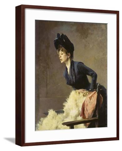 Portrait of a Young Lady, 1889-Hugo von Habermann-Framed Art Print
