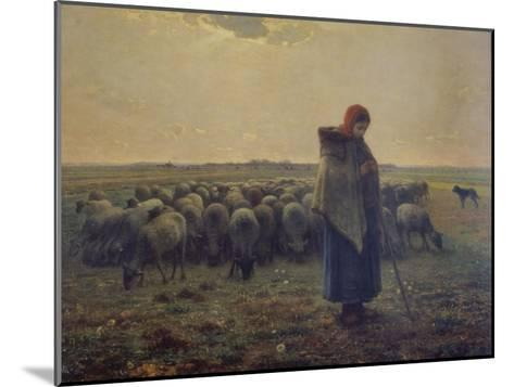 Shepherdess with Her Flock (La Grande Bergere), 1863-Jean-Fran?ois Millet-Mounted Giclee Print
