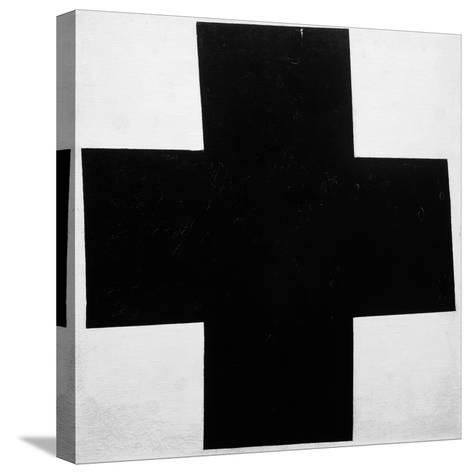 Black Cross-Kasimir Malevich-Stretched Canvas Print