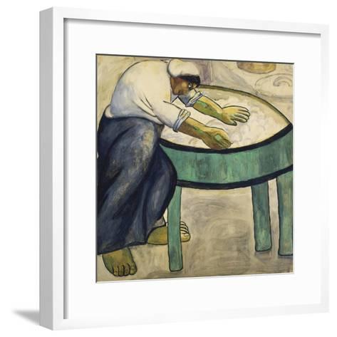 The Washerwoman, 1911-Kasimir Malevich-Framed Art Print