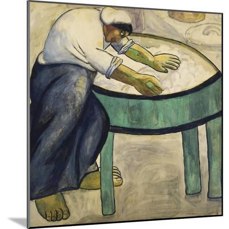 The Washerwoman, 1911-Kasimir Malevich-Mounted Giclee Print