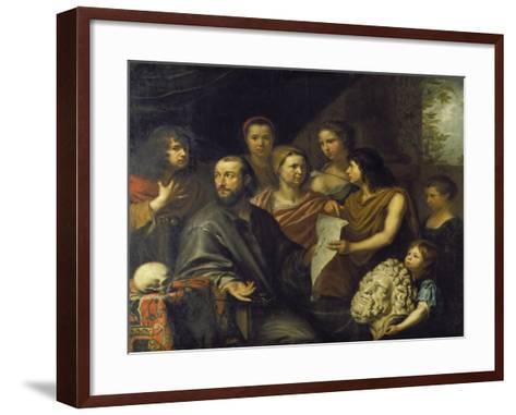 The Family of the Engraver Matthaeus Merian the Elder (1593-1650), 1641-Matthäus Merian-Framed Art Print