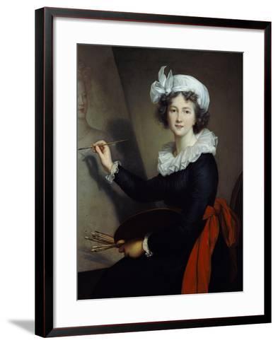 Selbstbildnis Beim Malen-Elisabeth-Louise Vigée-Lebrun-Framed Art Print