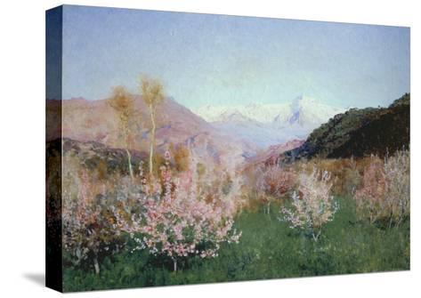 Italian Spring Landscape, 1890-Isaak Iljitsch Lewitan-Stretched Canvas Print