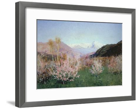 Italian Spring Landscape, 1890-Isaak Iljitsch Lewitan-Framed Art Print