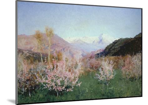 Italian Spring Landscape, 1890-Isaak Iljitsch Lewitan-Mounted Giclee Print