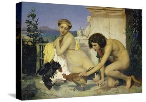 Young Greeks Encouraging Cocks to Fight, 1846-Jean-L?on G?rome-Stretched Canvas Print