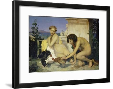 Young Greeks Encouraging Cocks to Fight, 1846-Jean-L?on G?rome-Framed Art Print