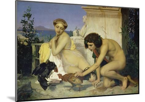 Young Greeks Encouraging Cocks to Fight, 1846-Jean-L?on G?rome-Mounted Giclee Print
