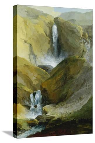 The Geltenschuss Waterfall in the Lauenen Valley, 1777-Caspar Wolf-Stretched Canvas Print