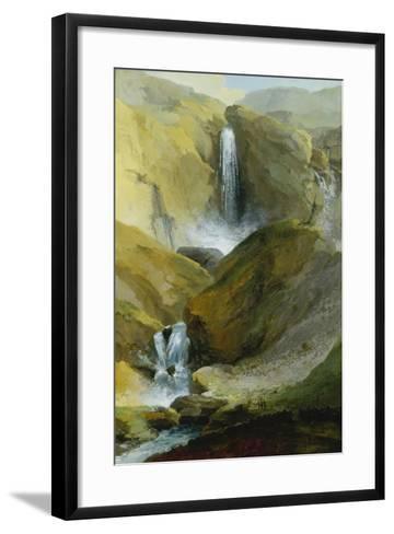 The Geltenschuss Waterfall in the Lauenen Valley, 1777-Caspar Wolf-Framed Art Print