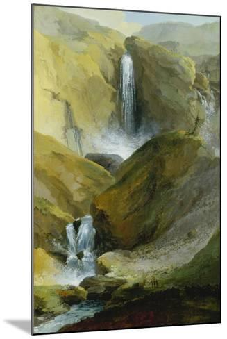 The Geltenschuss Waterfall in the Lauenen Valley, 1777-Caspar Wolf-Mounted Giclee Print