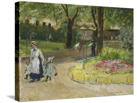 The Entrance to the Zoological Gardens, Frankfurt (Papagaienallee), 1901-Max Slevogt-Stretched Canvas Print