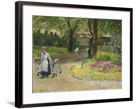 The Entrance to the Zoological Gardens, Frankfurt (Papagaienallee), 1901-Max Slevogt-Framed Art Print