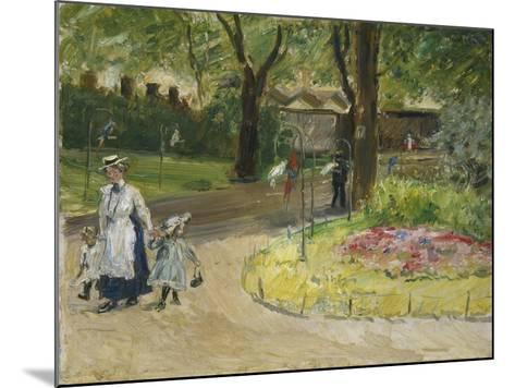 The Entrance to the Zoological Gardens, Frankfurt (Papagaienallee), 1901-Max Slevogt-Mounted Giclee Print
