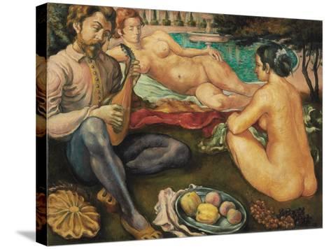 Court of Love (Cour D'Amour), 1890-Emile Bernard-Stretched Canvas Print