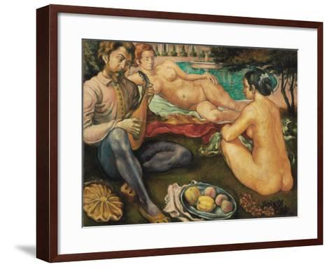 Court of Love (Cour D'Amour), 1890-Emile Bernard-Framed Art Print