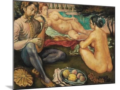 Court of Love (Cour D'Amour), 1890-Emile Bernard-Mounted Giclee Print