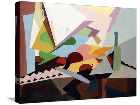Still-Life in Front of a Window (Nature Morte Devant Une Fenetre), Ca. 1922-Georges Valmier-Stretched Canvas Print