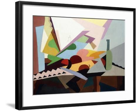 Still-Life in Front of a Window (Nature Morte Devant Une Fenetre), Ca. 1922-Georges Valmier-Framed Art Print