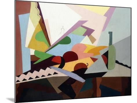 Still-Life in Front of a Window (Nature Morte Devant Une Fenetre), Ca. 1922-Georges Valmier-Mounted Giclee Print