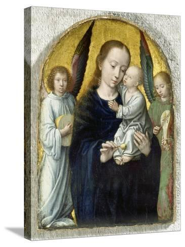 Madonna with Child Between Music Making Angels, 1490-95-Gerard David-Stretched Canvas Print