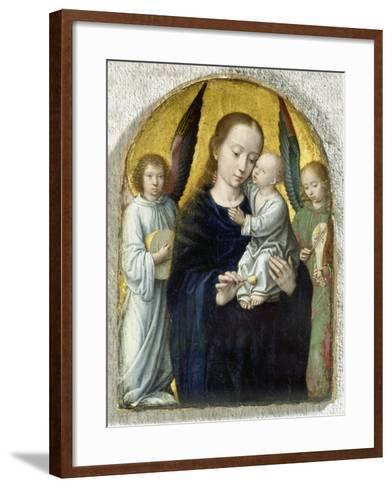 Madonna with Child Between Music Making Angels, 1490-95-Gerard David-Framed Art Print