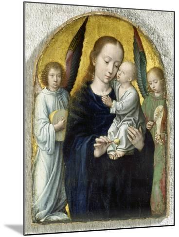 Madonna with Child Between Music Making Angels, 1490-95-Gerard David-Mounted Giclee Print
